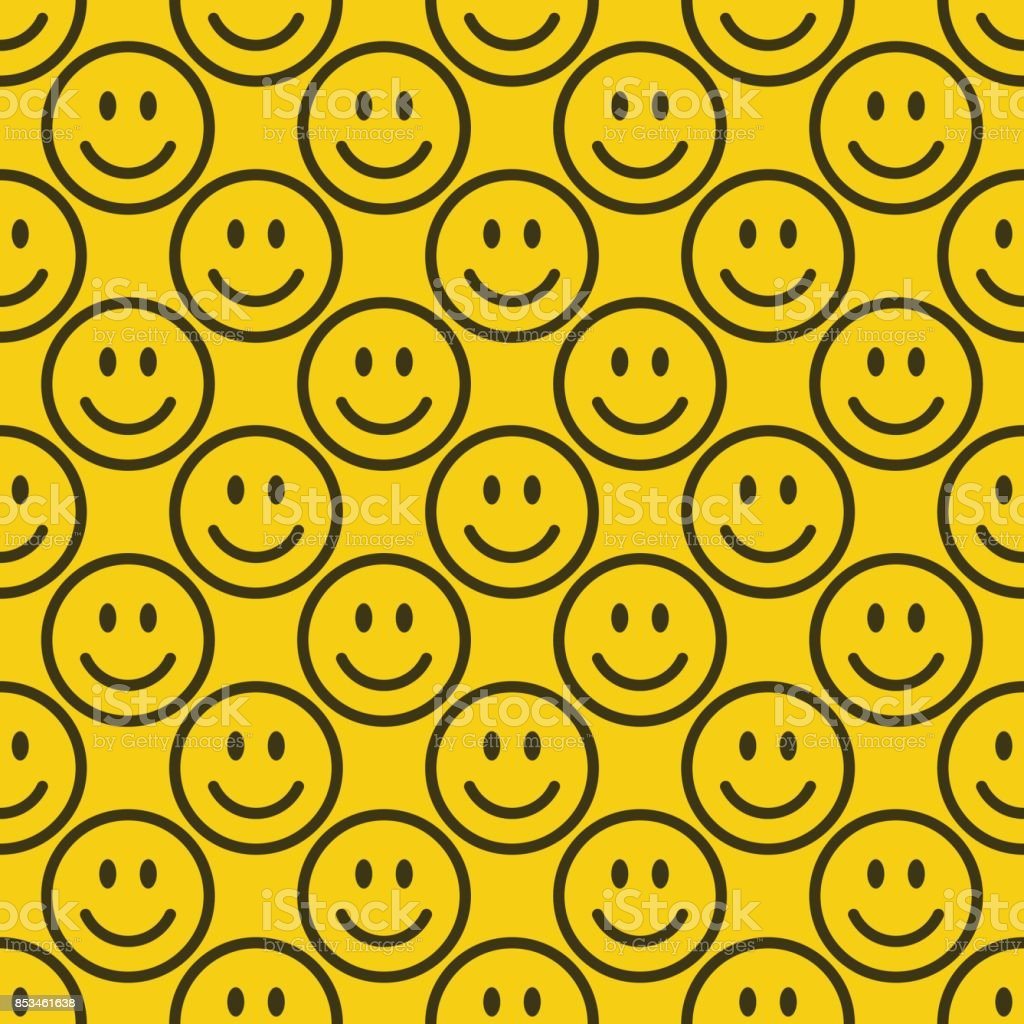 Seamless emoji pattern vector art illustration