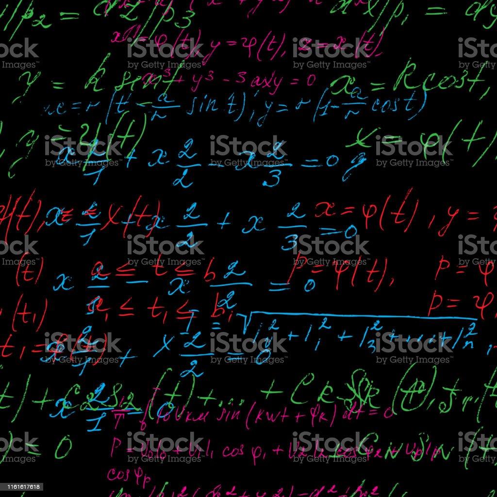 手書きの数式数学の関係や記号で表されるルール加算減算乗算除算などの ...