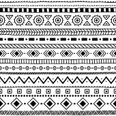 Seamless ethnic and tribal pattern.