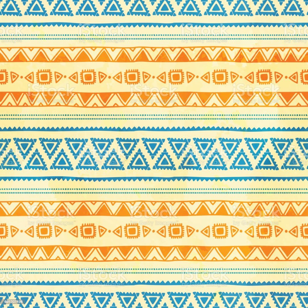 Seamless ethnic background. vector art illustration