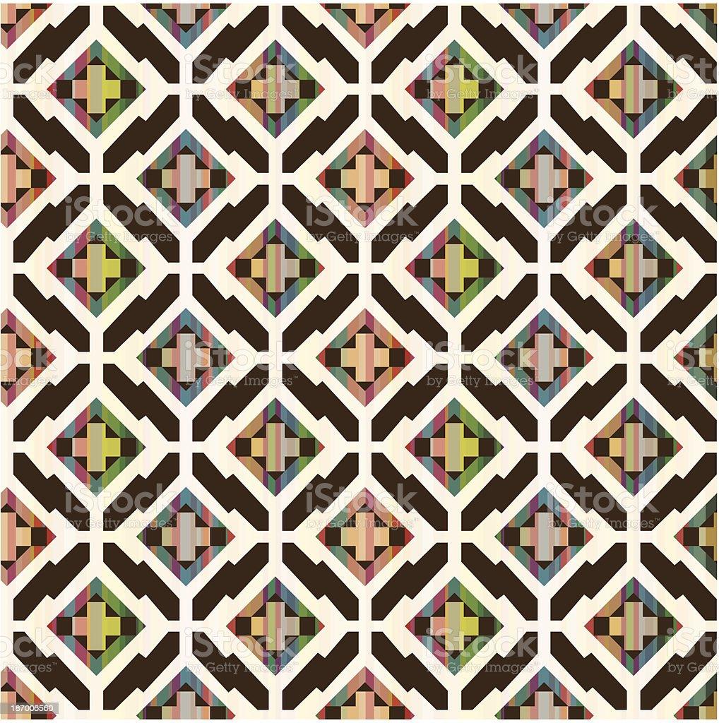 Sem costura padrão geométrico étnica - ilustração de arte em vetor