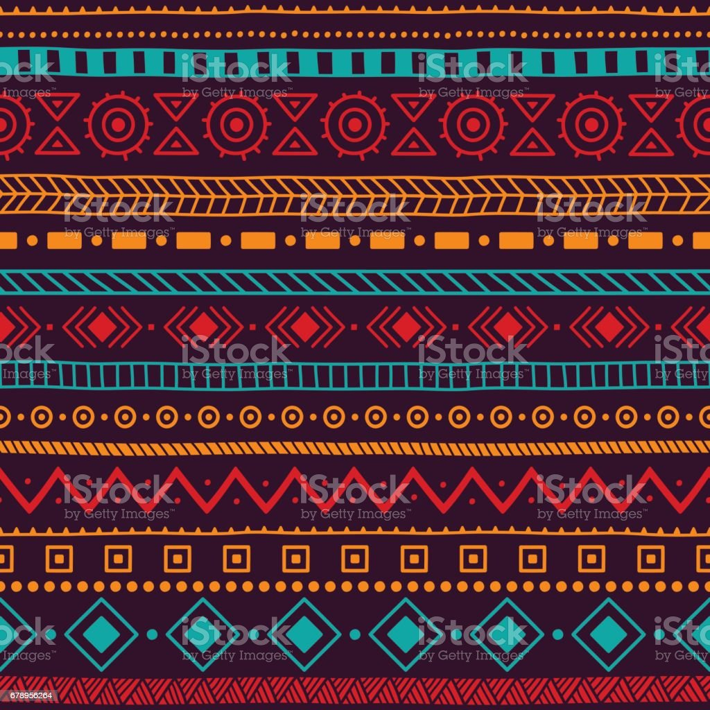 Seamless ethnic ornament. Aztec and tribal motifs. vector art illustration