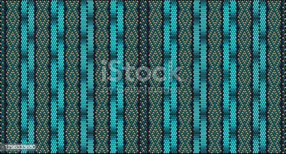 istock Seamless, ethnic ornament for fabrics, interiors, ceramics and furniture in the Arabic style. 1296333680