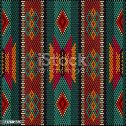istock Seamless, ethnic ornament for fabrics, interiors, ceramics and furniture in the Arabic style. 1312084530