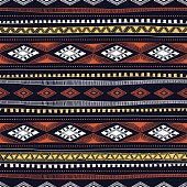 Seamless ethnic pattern drawn by hand.