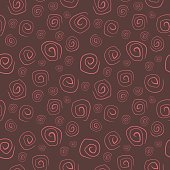 Seamless ethnic pattern of spiral doodles. Template for textile, fabric, design, wallpaper.
