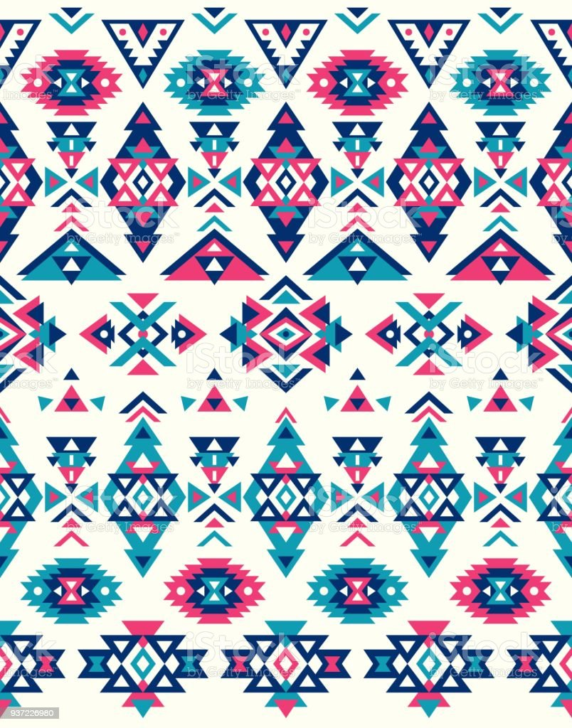 seamless ethnic pattern textures native american pattern pink and