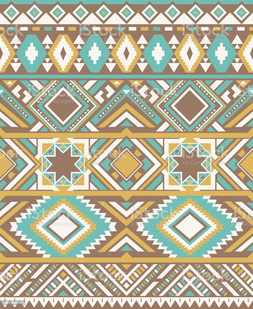 seamless ethnic pattern textures native american pattern yellow