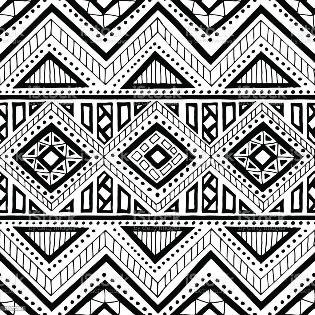 Seamless ethnic pattern. royalty-free seamless ethnic pattern stock vector art & more images of abstract