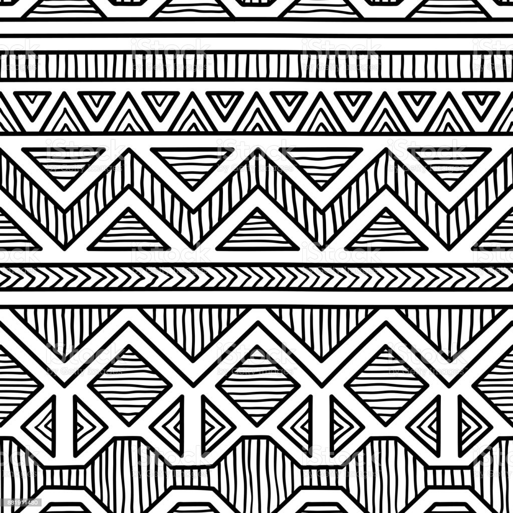 Seamless ethnic pattern. vector art illustration