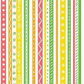 Seamless ethnic pattern with soft color stripes.