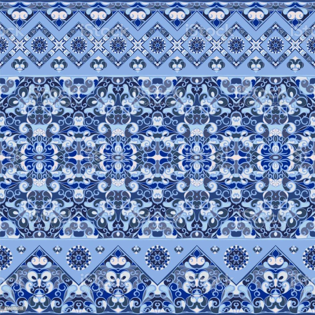 Seamless ethnic patterns vector art illustration