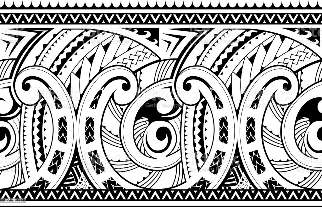 Stock Illustration Volleyball Tribal Abstract Vector: Seamless Ethnic Tribal Ornament Stock Vector Art & More