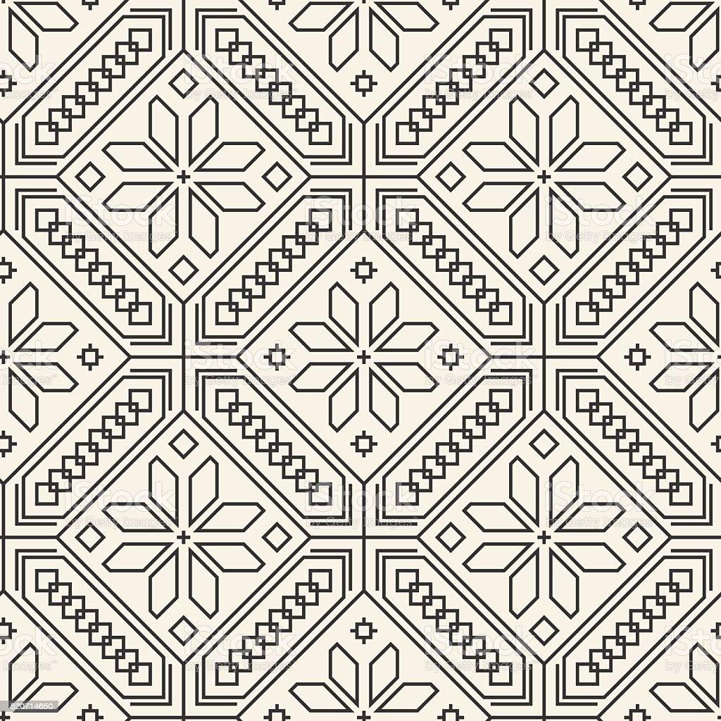 Seamless ethnic ukrainian pattern vector art illustration