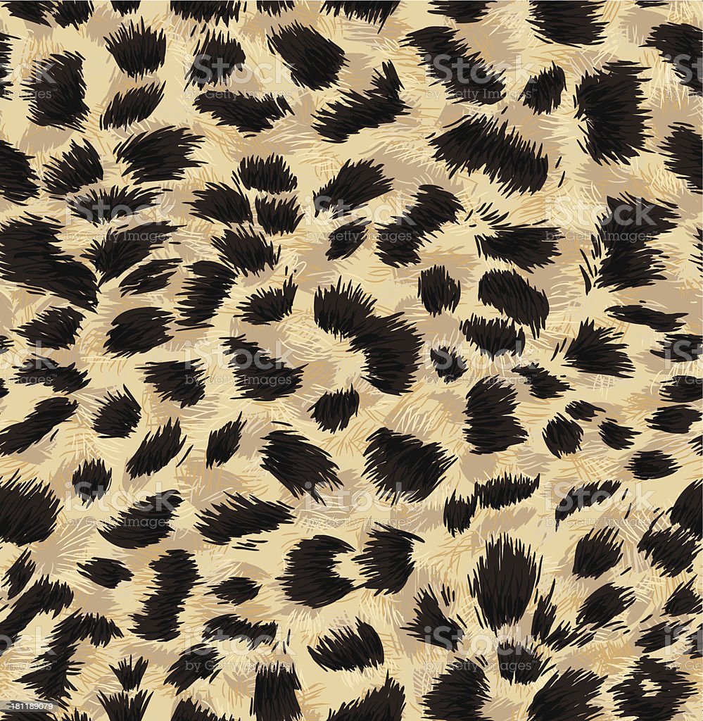 Seamless exotic fur pattern vector art illustration