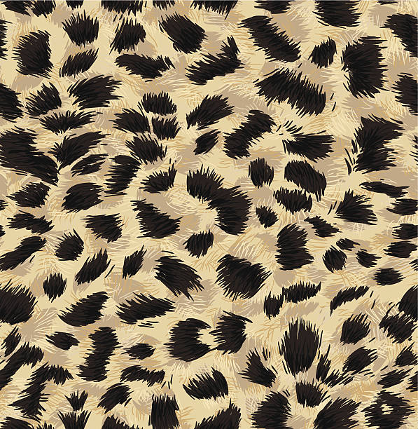 seamless exotic fur pattern - leopard texture stock illustrations, clip art, cartoons, & icons