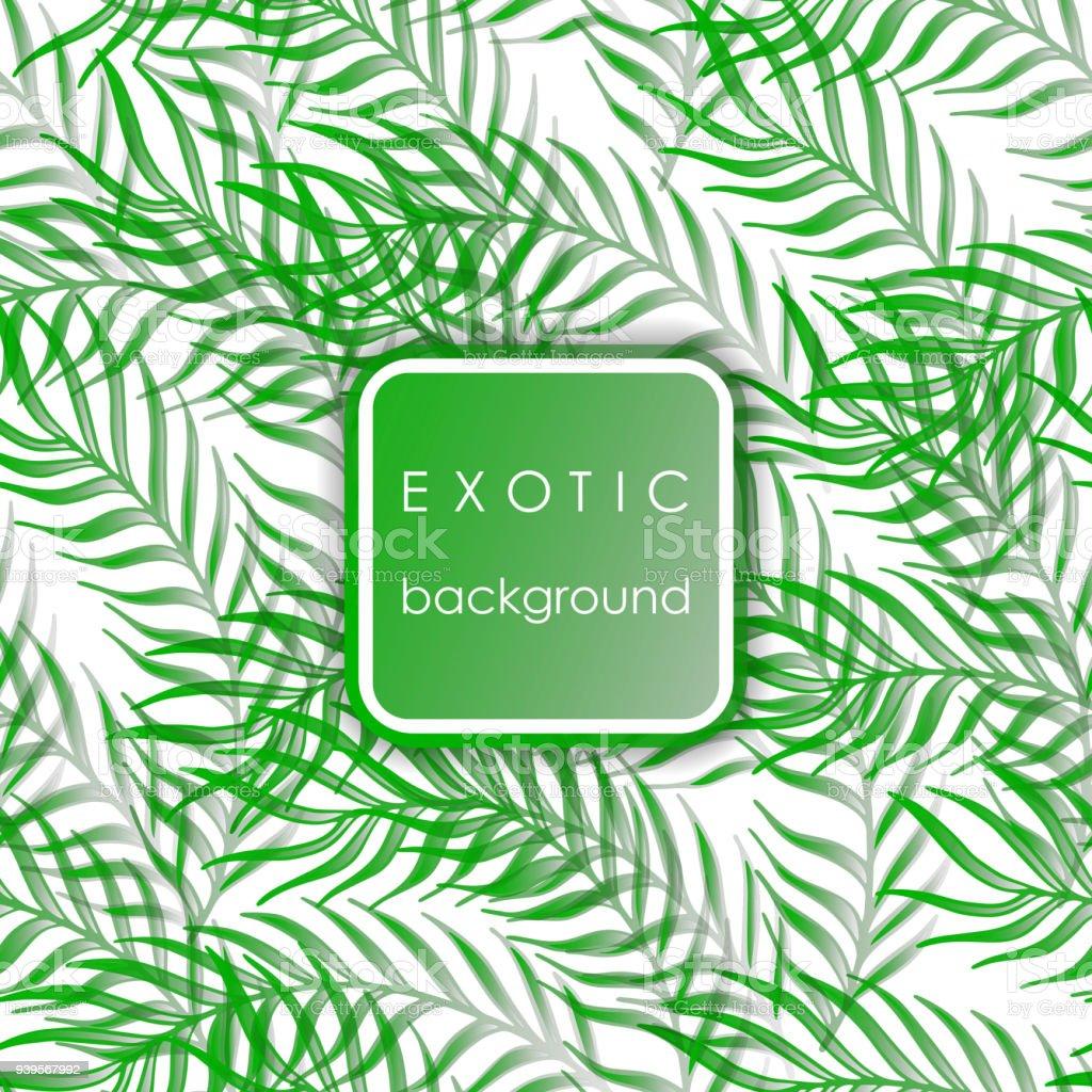 19cc86dca0 Hojas de patrones exóticos sin fisuras con la palma. ilustración de hojas  de patrones exóticos
