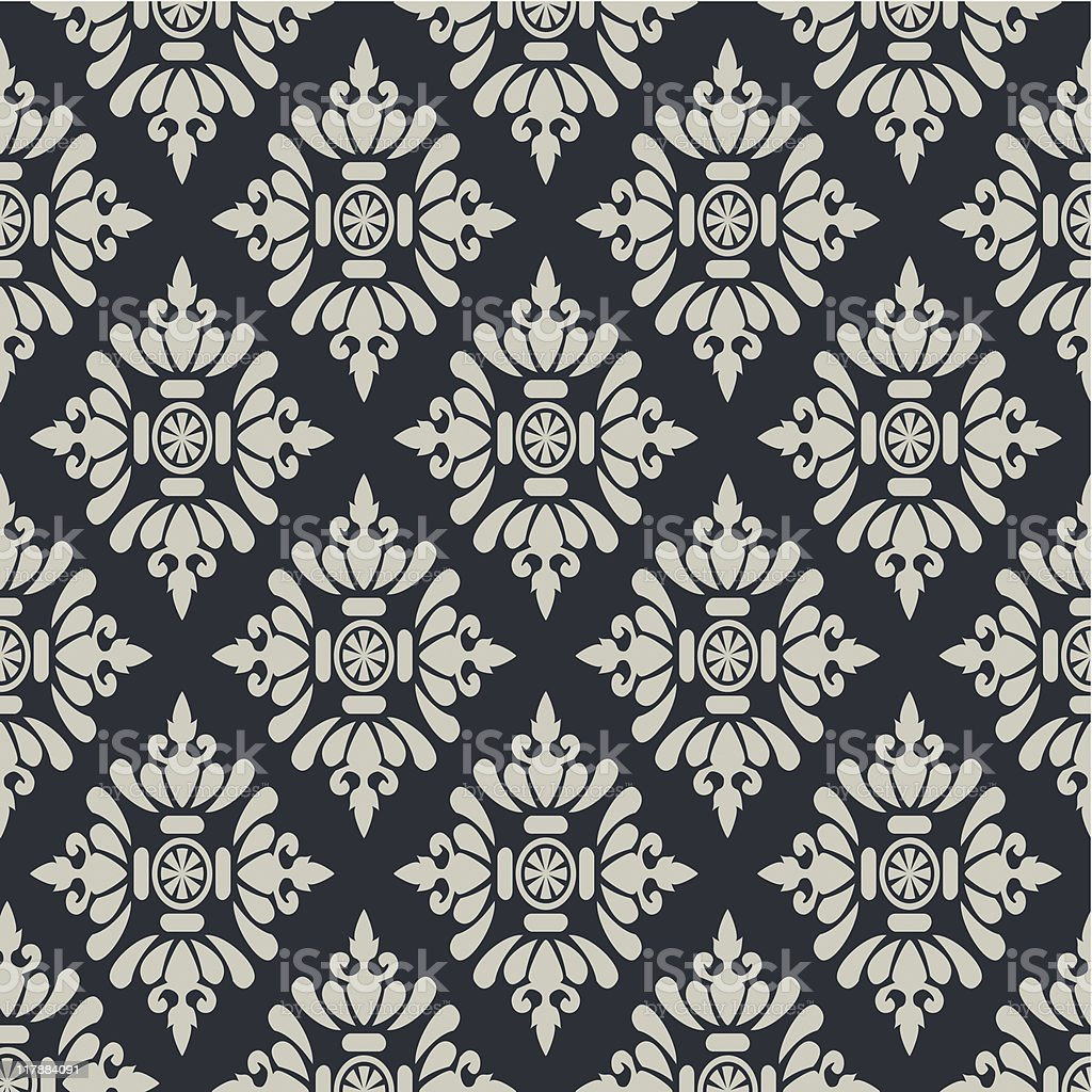 Seamless fabric pattern vector art illustration