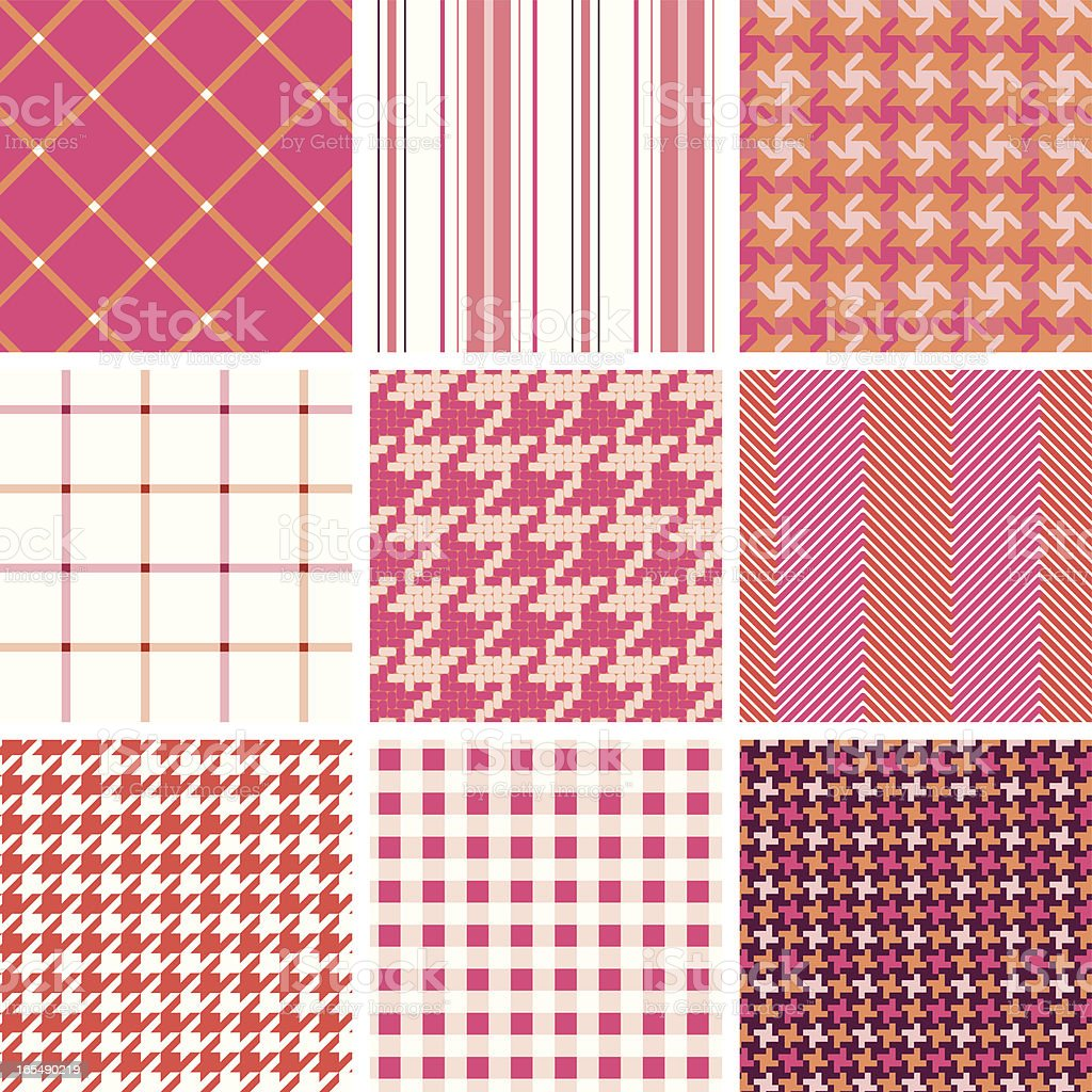 seamless fabric pattern royalty-free stock vector art