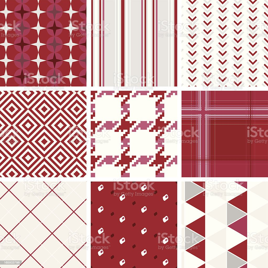 Seamless fabric/wallpaper pattern in red royalty-free seamless fabricwallpaper pattern in red stock vector art & more images of abstract