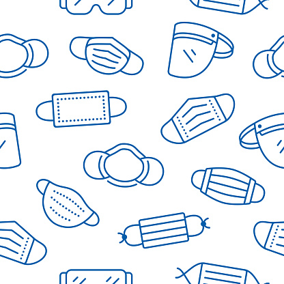 Seamless Face Coverings Masks and PPE Background Pattern