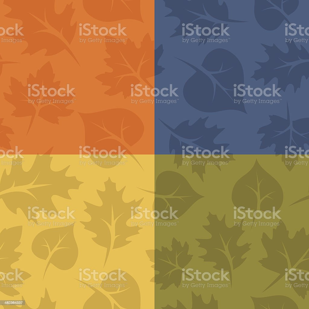 Seamless Fall Leaves vector art illustration
