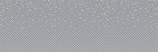 ilustraciones, imágenes clip art, dibujos animados e iconos de stock de nieve o copos de nieve sin costuras. aislado en fondo transparente - vector de stock. - nieve