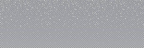 nahtlos fallender schnee oder schneeflocken. isoliert auf transparentem hintergrund - bestandsvektor. - schneefall stock-grafiken, -clipart, -cartoons und -symbole