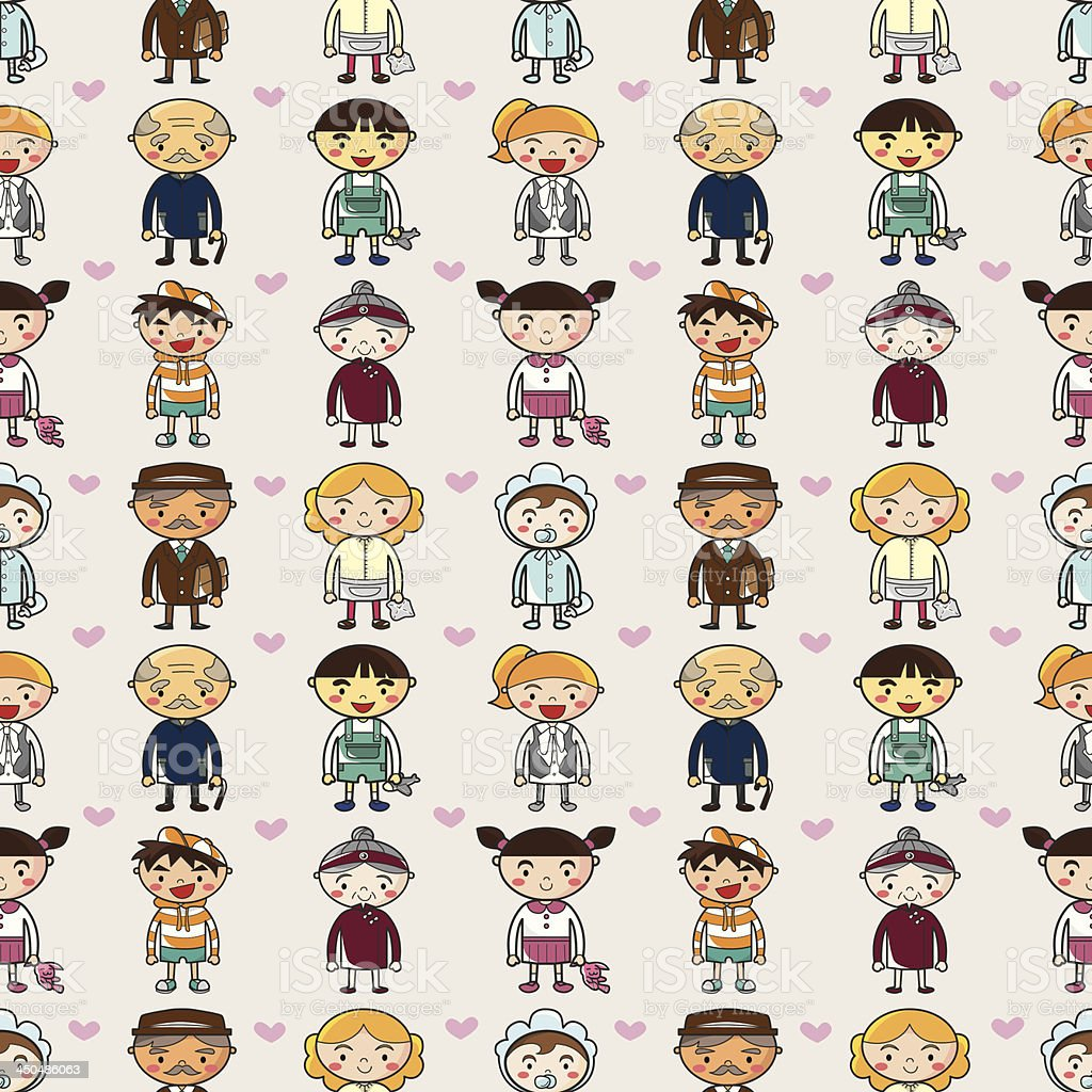 seamless family pattern royalty-free seamless family pattern stock vector art & more images of adult