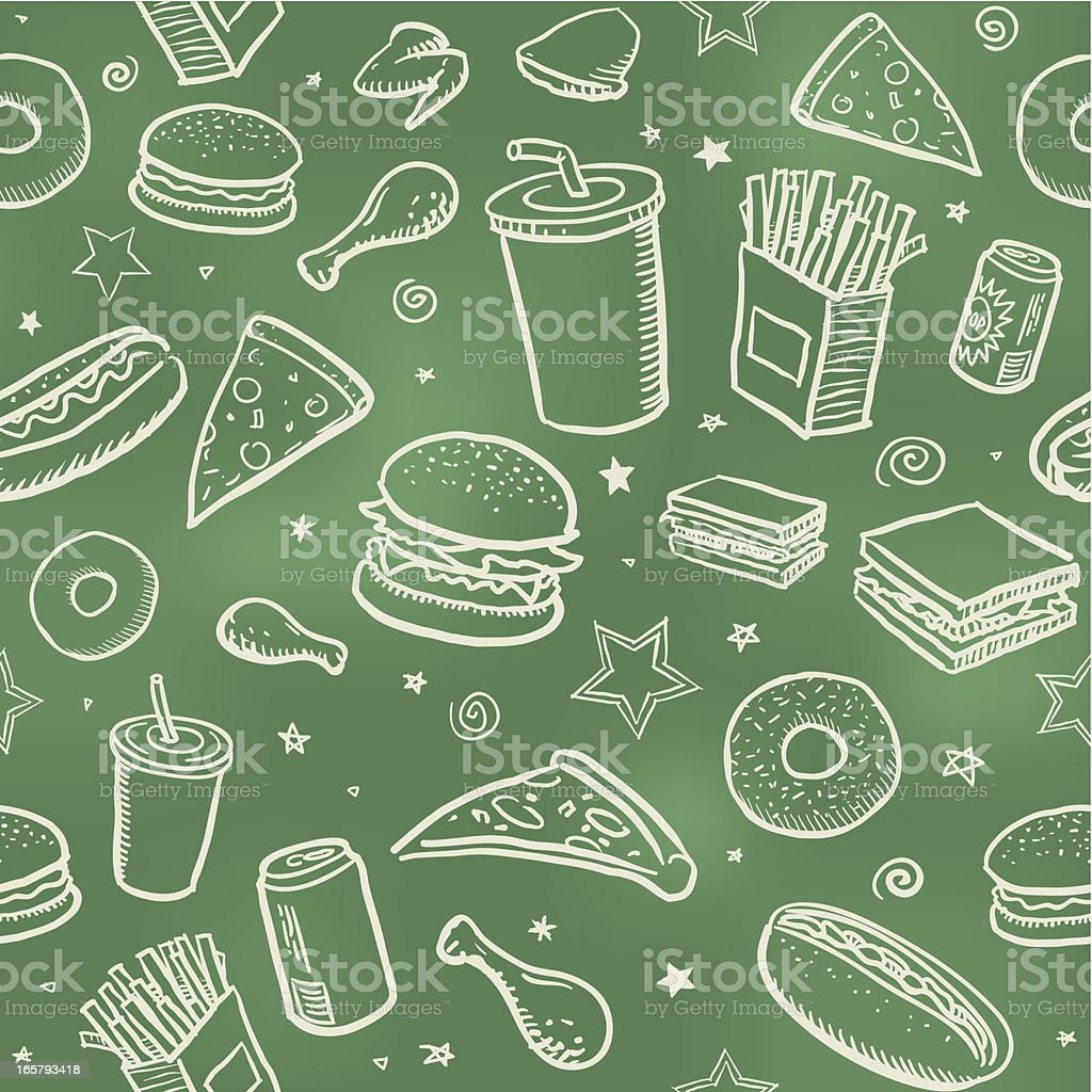 Fond de fast-food sans couture - Illustration vectorielle