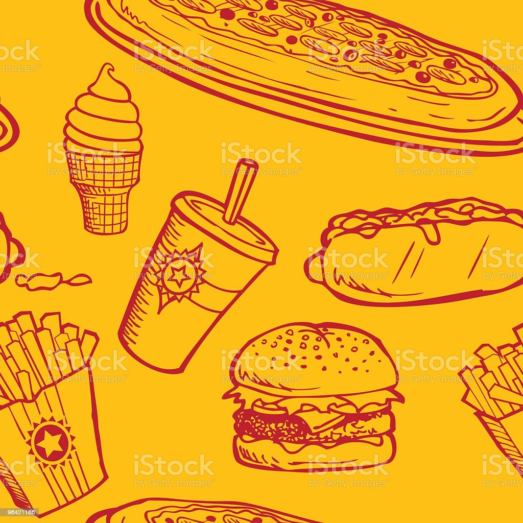 Seamless Fast Food Background Stock Vector Art & More
