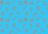 Street Food Seamless Pattern