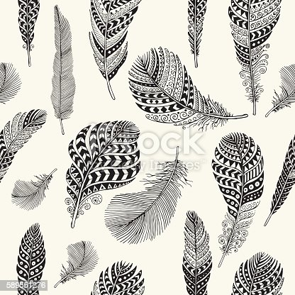 Editable vector seamless pattern on background layer.