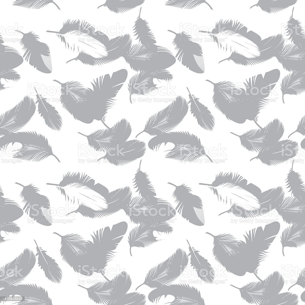 Seamless Feathers royalty-free stock vector art