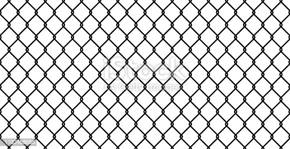 Seamless chain-link fence in vector