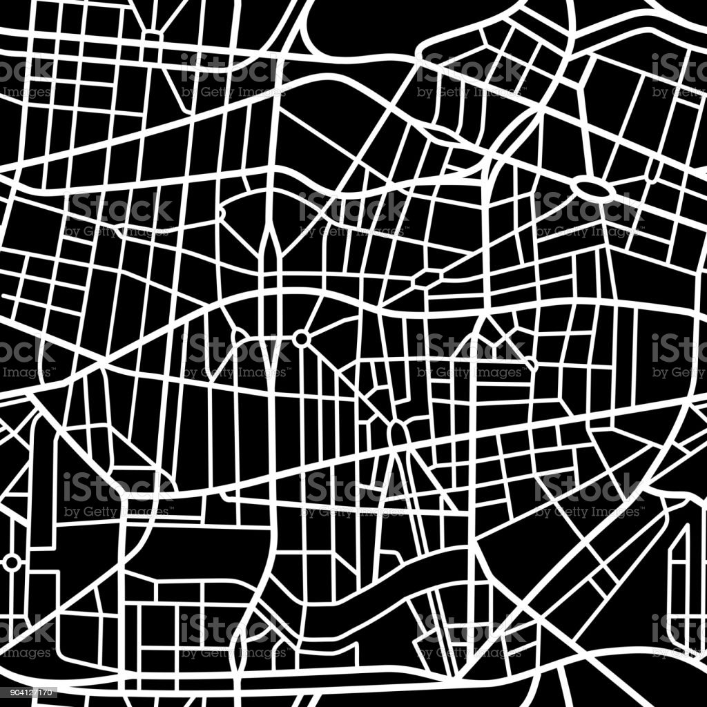 Seamless fictional city map royalty-free seamless fictional city map stock illustration - download image now