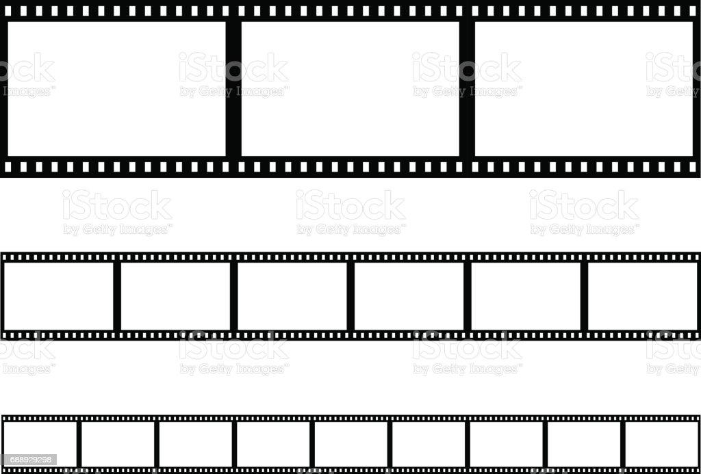 seamless film strip filmstrip vector vector art illustration