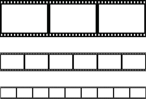 nahtlose film strip filmstreifen vektor - film stock-grafiken, -clipart, -cartoons und -symbole