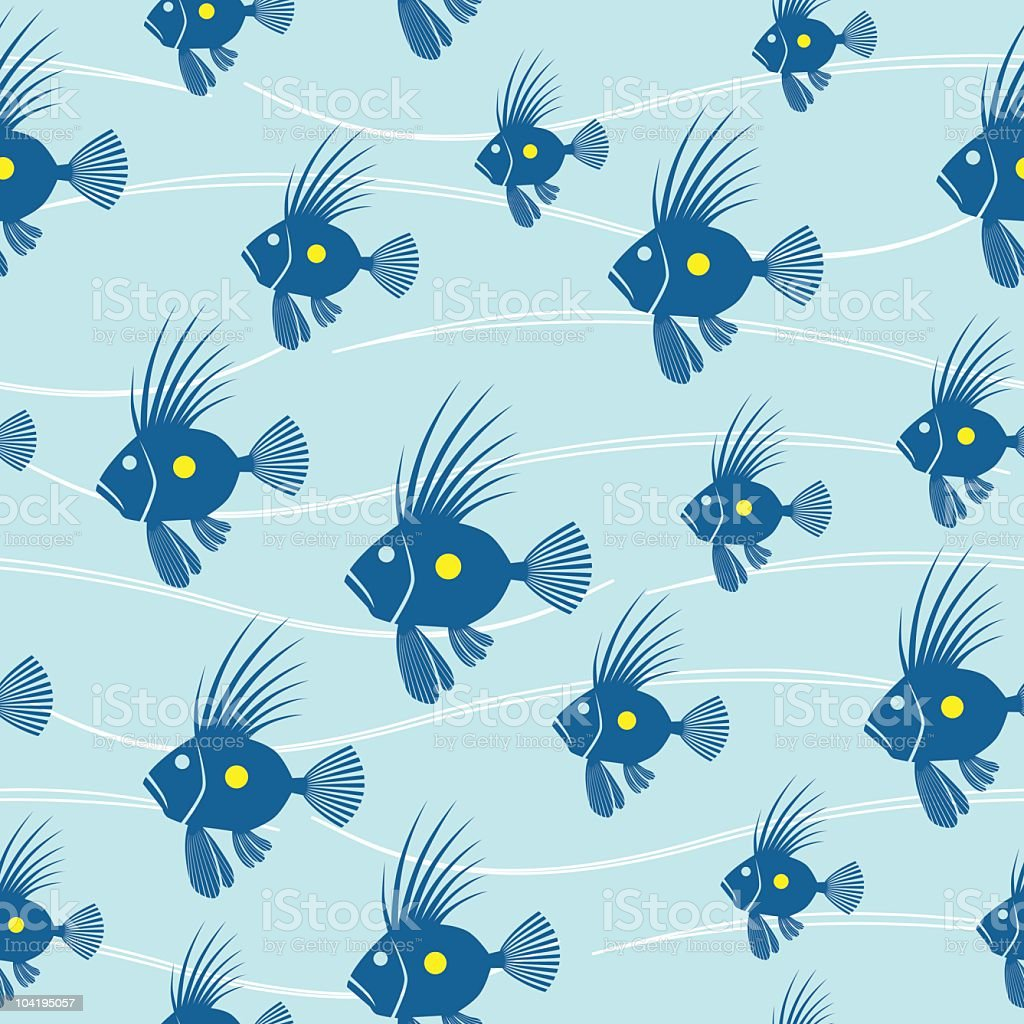 seamless fish pattern royalty-free seamless fish pattern stock vector art & more images of blue