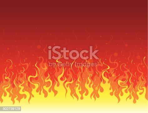 istock Seamless flame 502739129