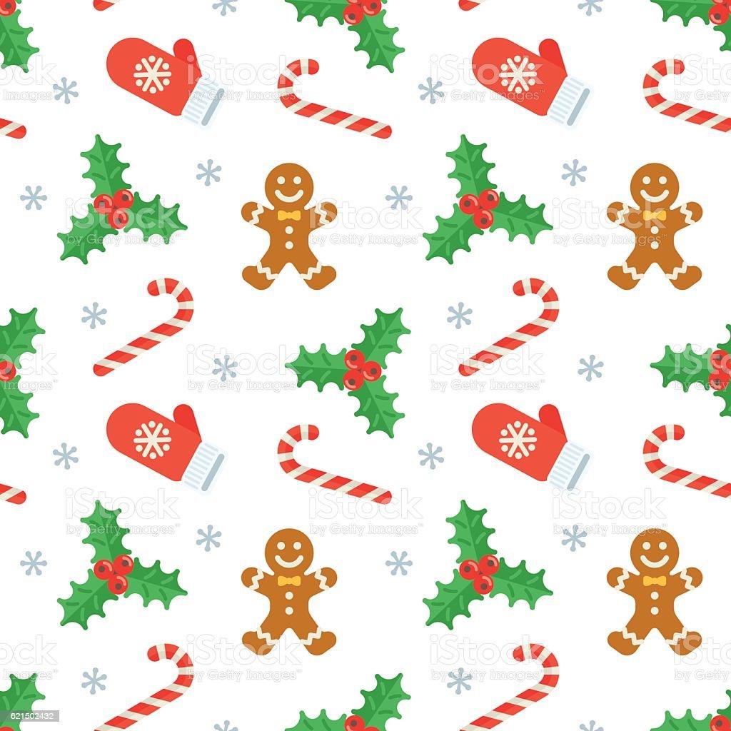 Seamless flat Christmas pattern of traditional decoration elements seamless flat christmas pattern of traditional decoration elements – cliparts vectoriels et plus d'images de affaires libre de droits