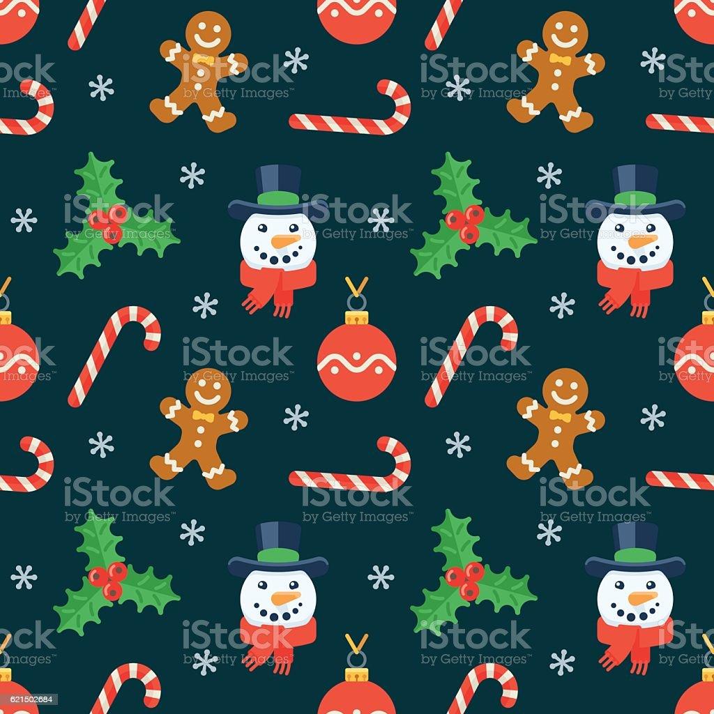 Seamless flat Christmas pattern of traditional decoration elements seamless flat christmas pattern of traditional decoration elements - immagini vettoriali stock e altre immagini di a forma di stella royalty-free
