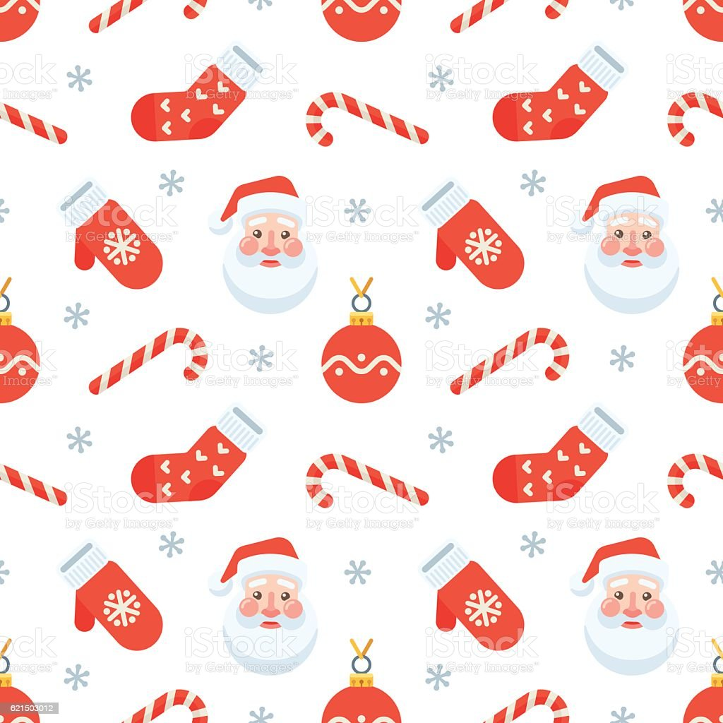 Seamless flat Christmas pattern of traditional decoration elements seamless flat christmas pattern of traditional decoration elements – cliparts vectoriels et plus d'images de affaires libre de droits