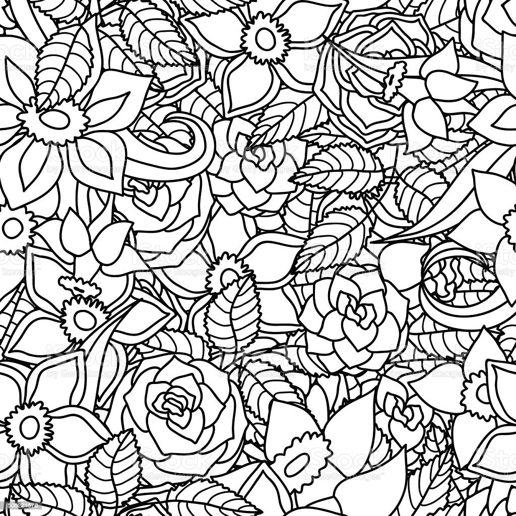 Seamless floral background swatch is included black and white stock seamless floral background swatch is included black and white royalty free seamless mightylinksfo