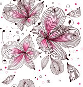 seamless floral background, nature pattern