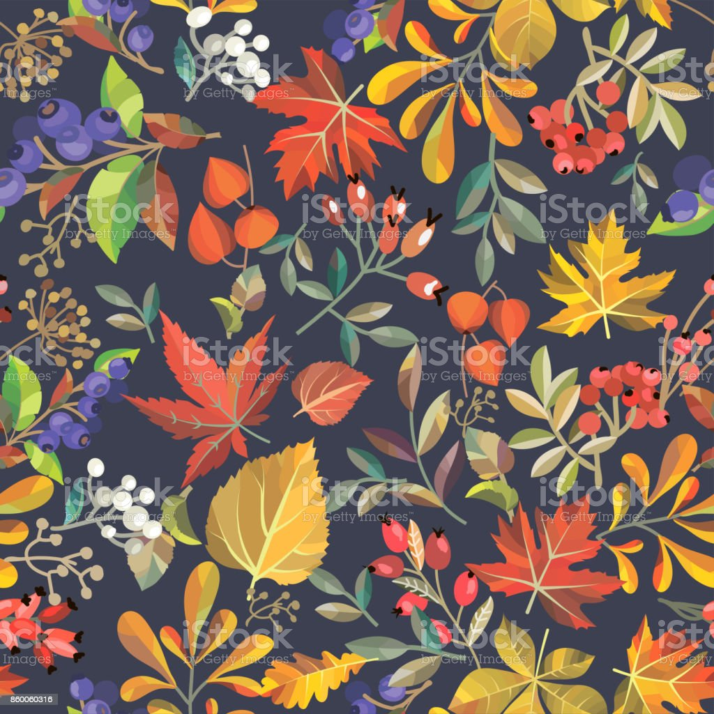 seamless floral background - arte vettoriale royalty-free di Autunno