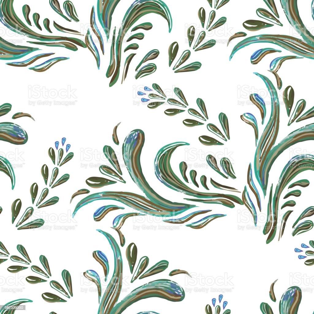 Seamless floral background  with green leaves seamless floral background with green leaves - stockowe grafiki wektorowe i więcej obrazów abstrakcja royalty-free