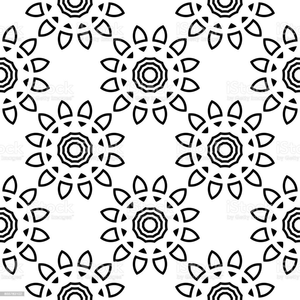 Sans Soudure Motif Noir Et Blanc Floral Pour Tissus Et Papiers ...