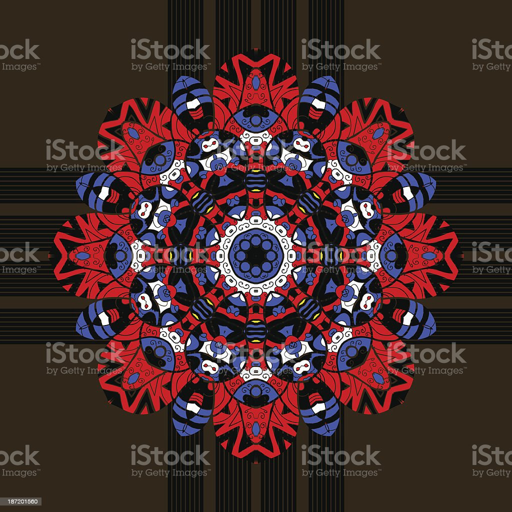Seamless floral orient pattern in pastel colors. Mandala oriental royalty-free stock vector art
