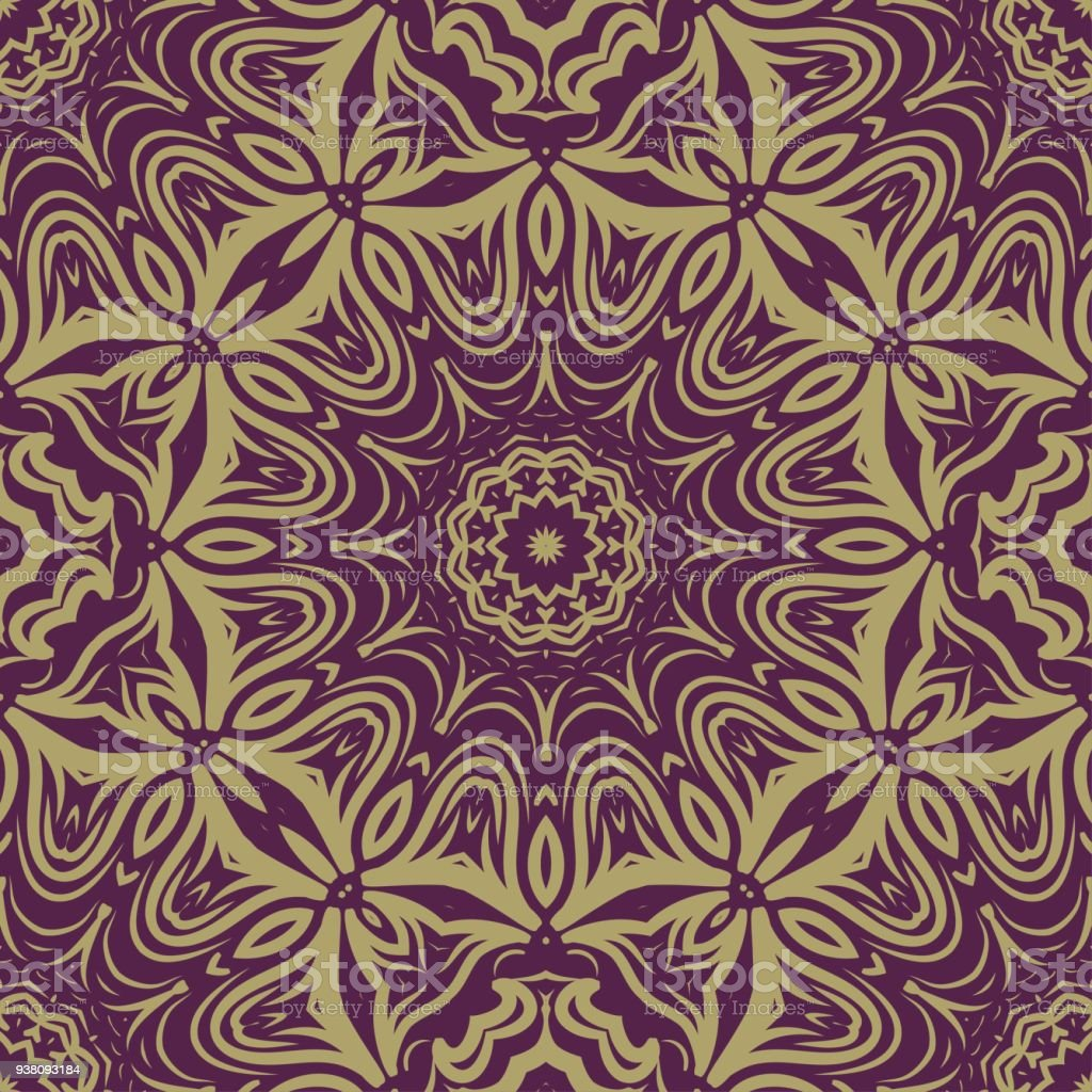 Seamless Floral Pattern Abstract Design For Wallpaper Textile Print Interior Design Vector Illustration Stock Illustration Download Image Now Istock